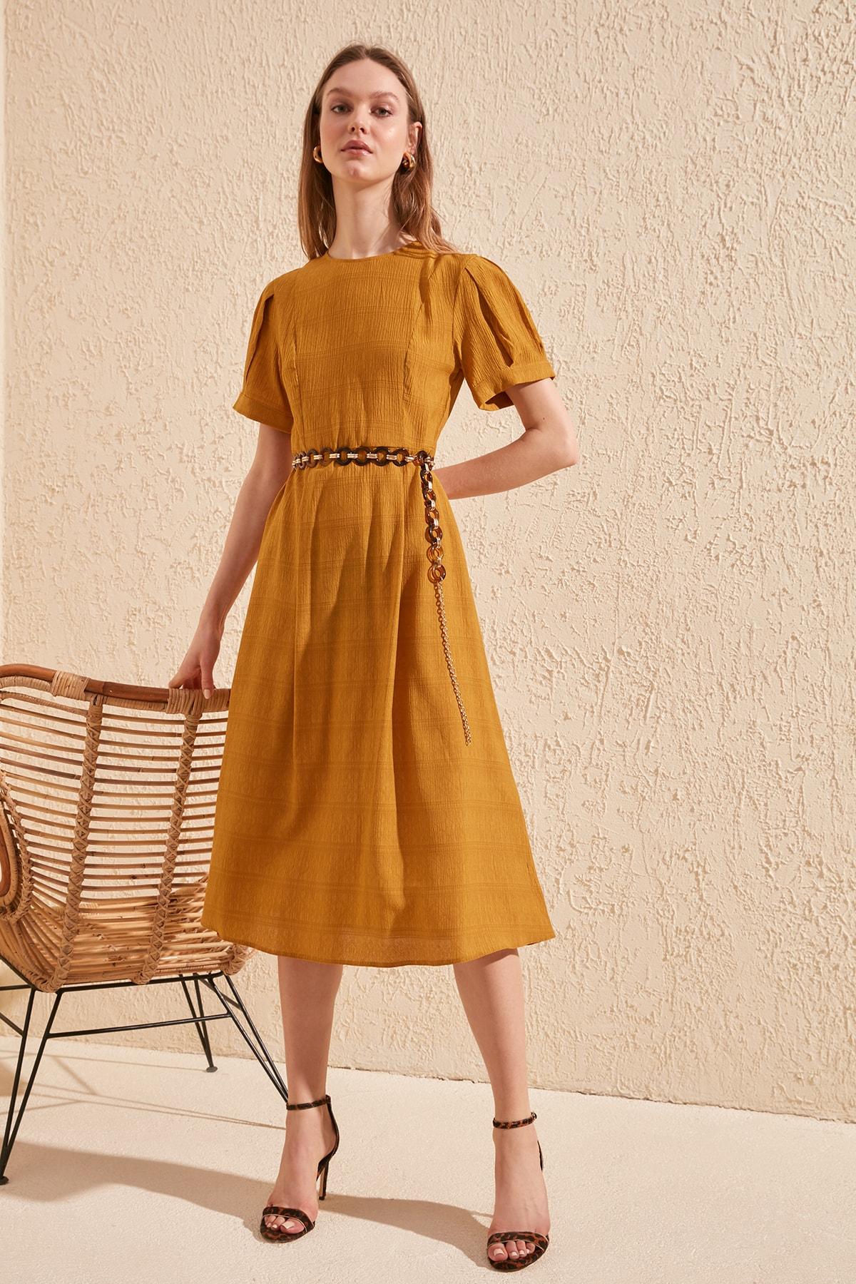 Trendyol Sleeve Detail Dress TWOSS20EL0192