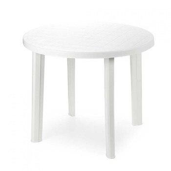 Round Table resin white Tondo 90x90x72cm Progarden