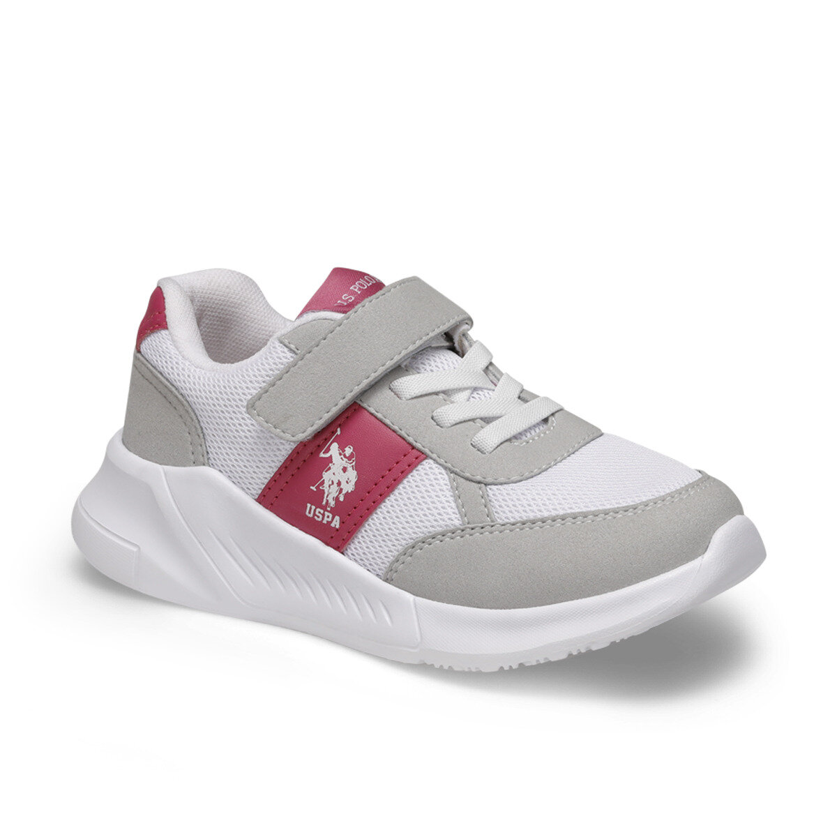 FLO IMPISH White Female Child Sneaker Shoes U.S. POLO ASSN.
