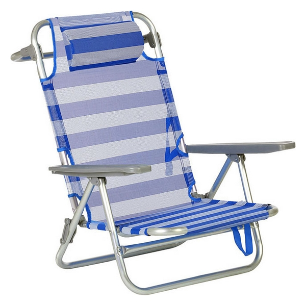 Folding Chair With Headrest (66  X  59  X  77 Cm) Aluminium 119667