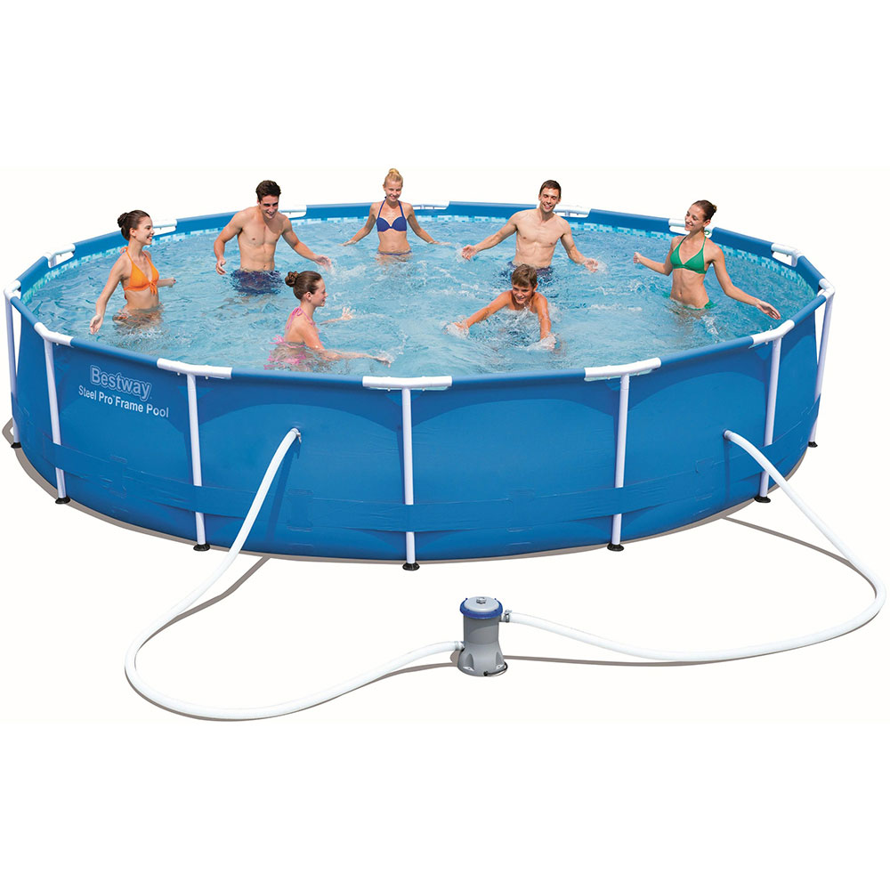 Bestway Pool Scaffold, PVC, 427 х84см, 10220л, With Filter Pump