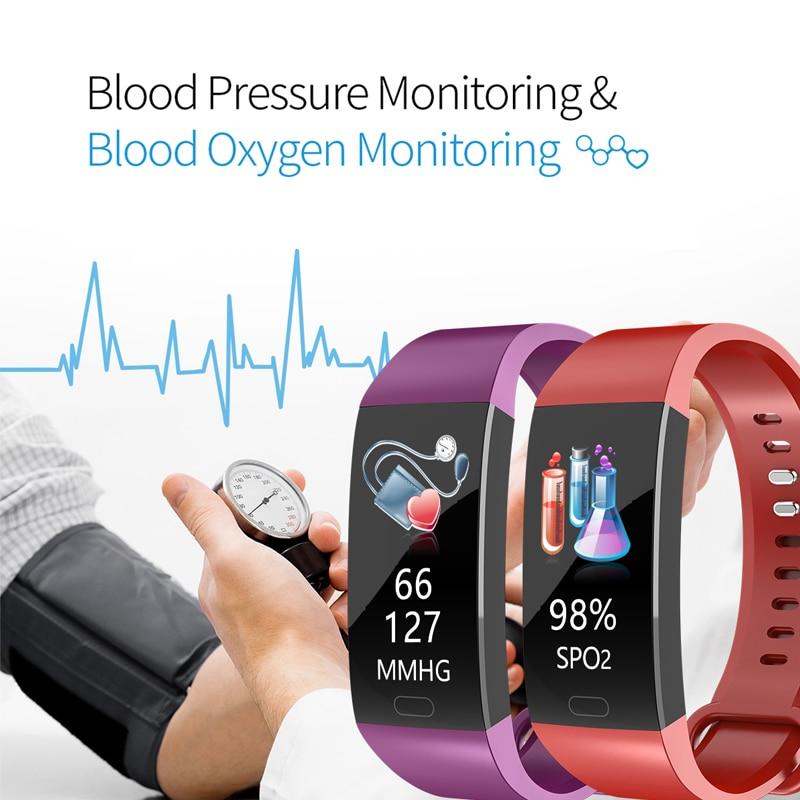 U1f4a0f0be0614a9880c3d035e92bc5f0F Smart Bracelet Band Measuring Pressure Clock Fitness Bracelet Heart Rate Activity Tracker bracelet smart Wristband Waterproof