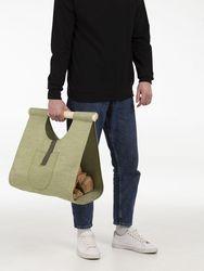Bag for firewood bonfire