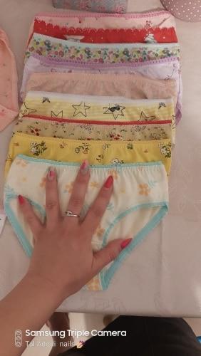 12Pc/Lot Baby Girls Underwear Cotton Panties Kids Short Briefs Children Underpants 2-12Y photo review