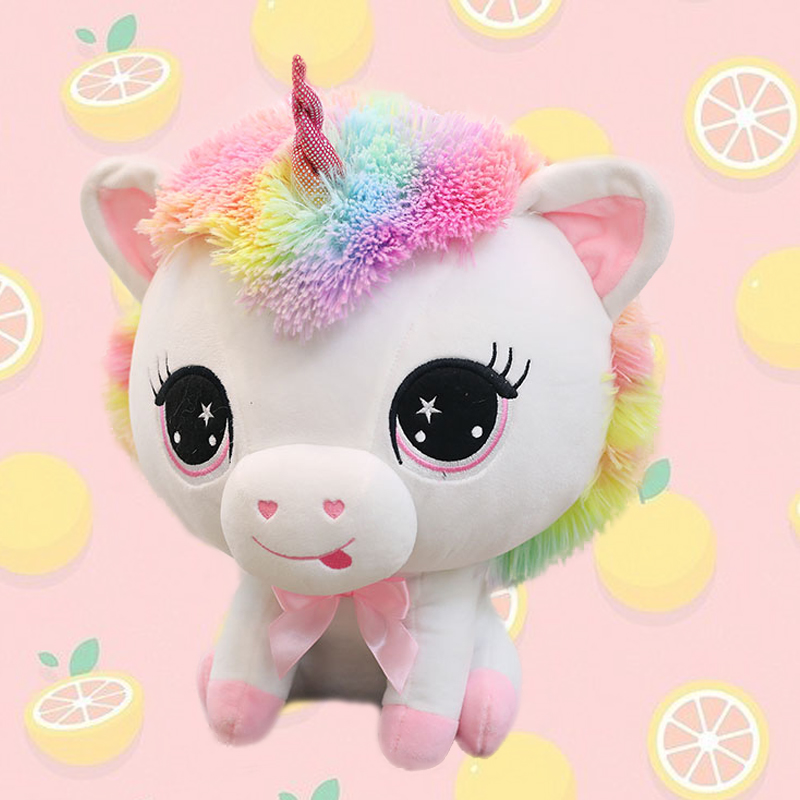 Rainbow Unicorn Stuffed Animal Plush Toy 35cm Cute Soft Unicorn Plush Stuffed Animal Toy Doll, Gift for Kids Babies Birthday Xmas Party