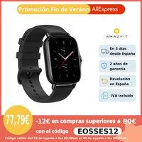 Amazfit GTS 2e,Smartwatch,Reloj inteligente,5 ATM,24 días de batería,Control del ritmo cardíaco 24H,90 modos deportivos