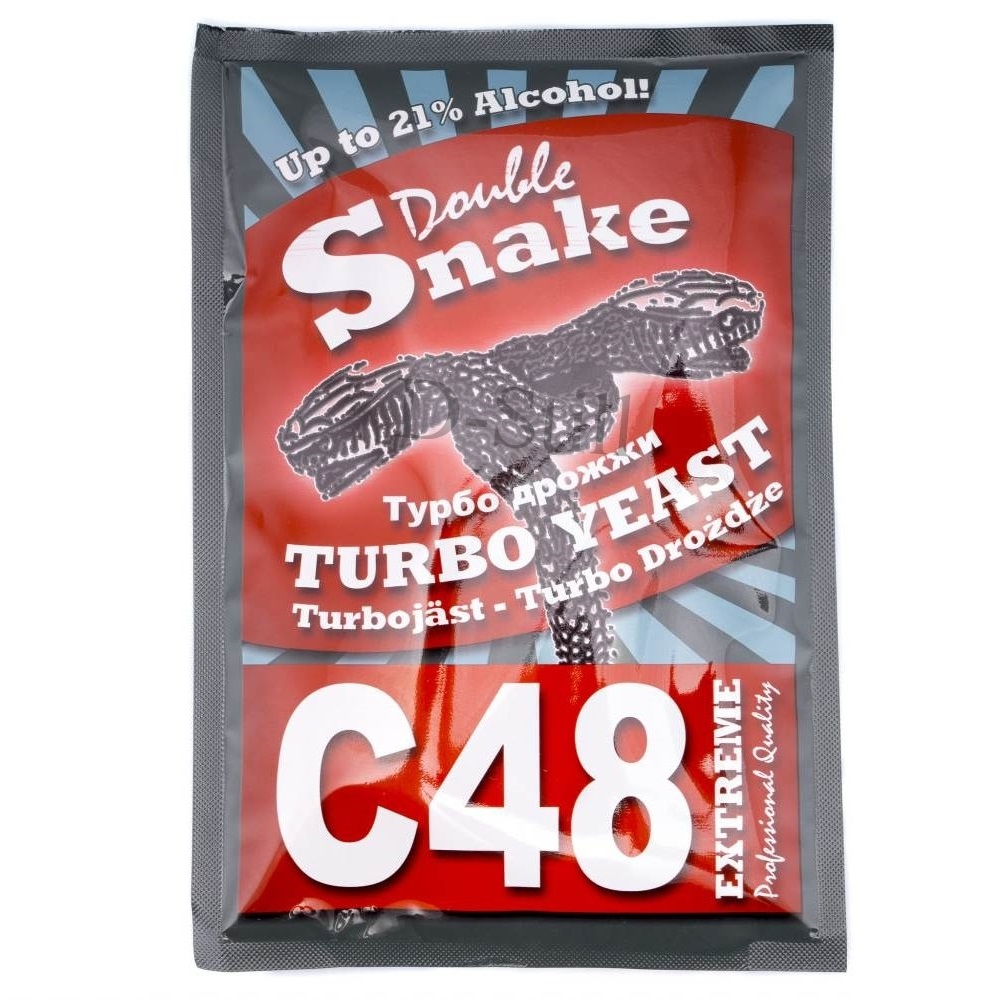 Турбо дрожжи спиртовые Double Snake C48 130гр