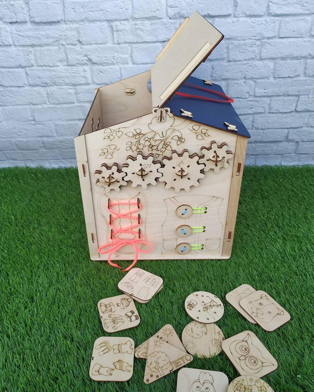 Conseil occupé pour les enfants apprenant busybox en bois busyboard montessori puzzles jouets éducatifs - 6