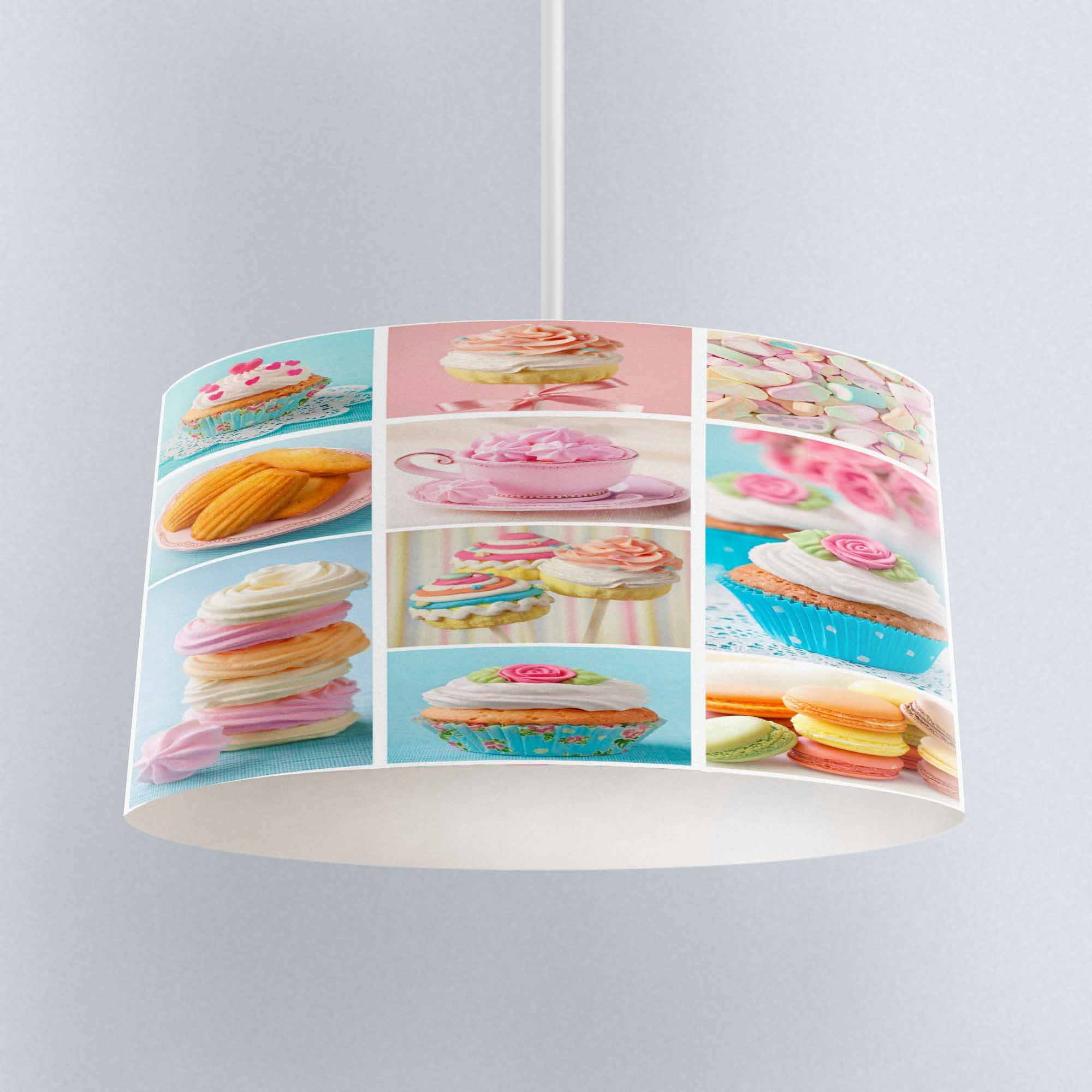 Else Blue Pink Cup Cakes Patchwork Printed Fabric Kitchen Chandelier Lamp Drum Lampshade Floor Ceiling Pendant Light Shade Aliexpress
