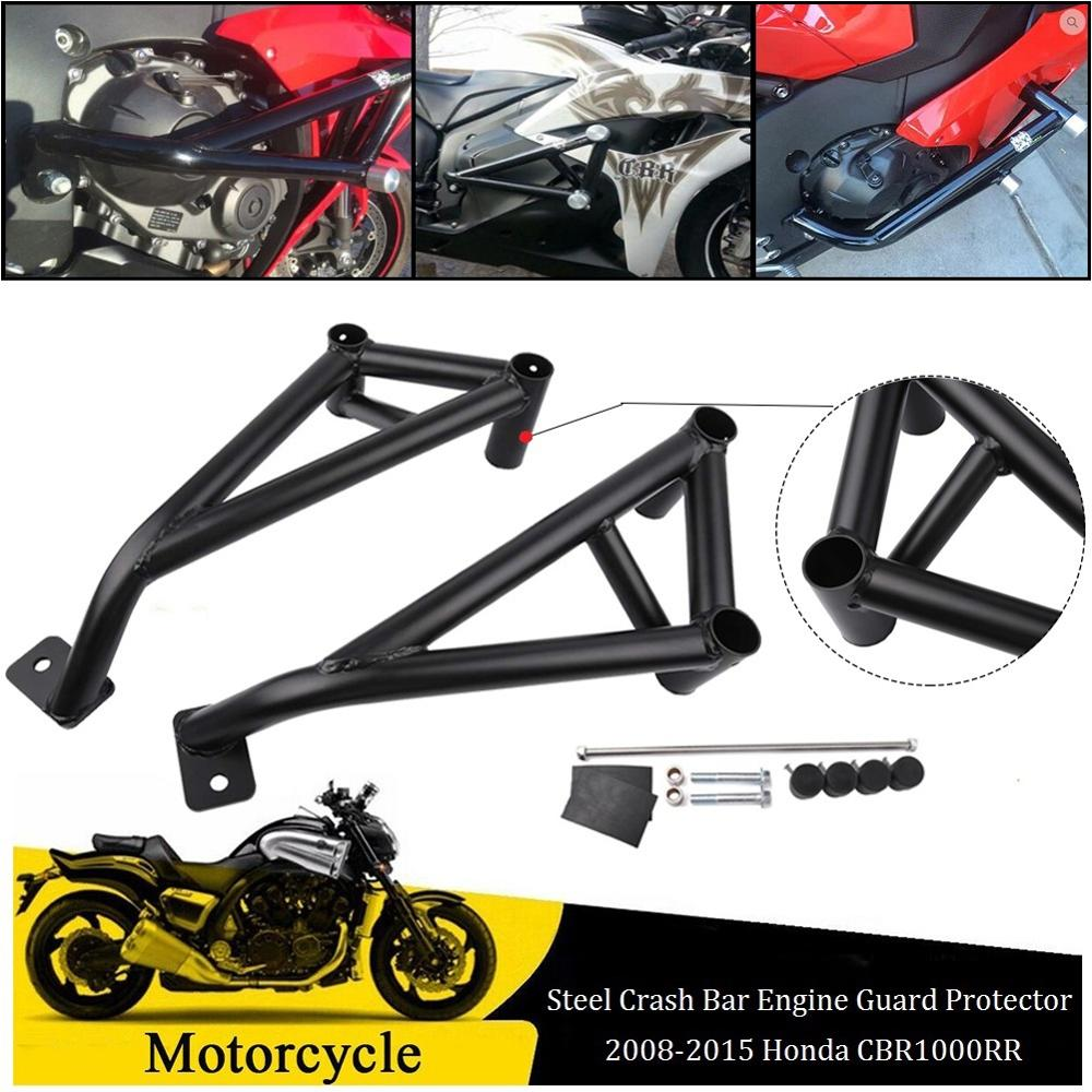 MEGA DEAL) MOTORCYCLE Black Sub Cage Subcage Stunt Rear