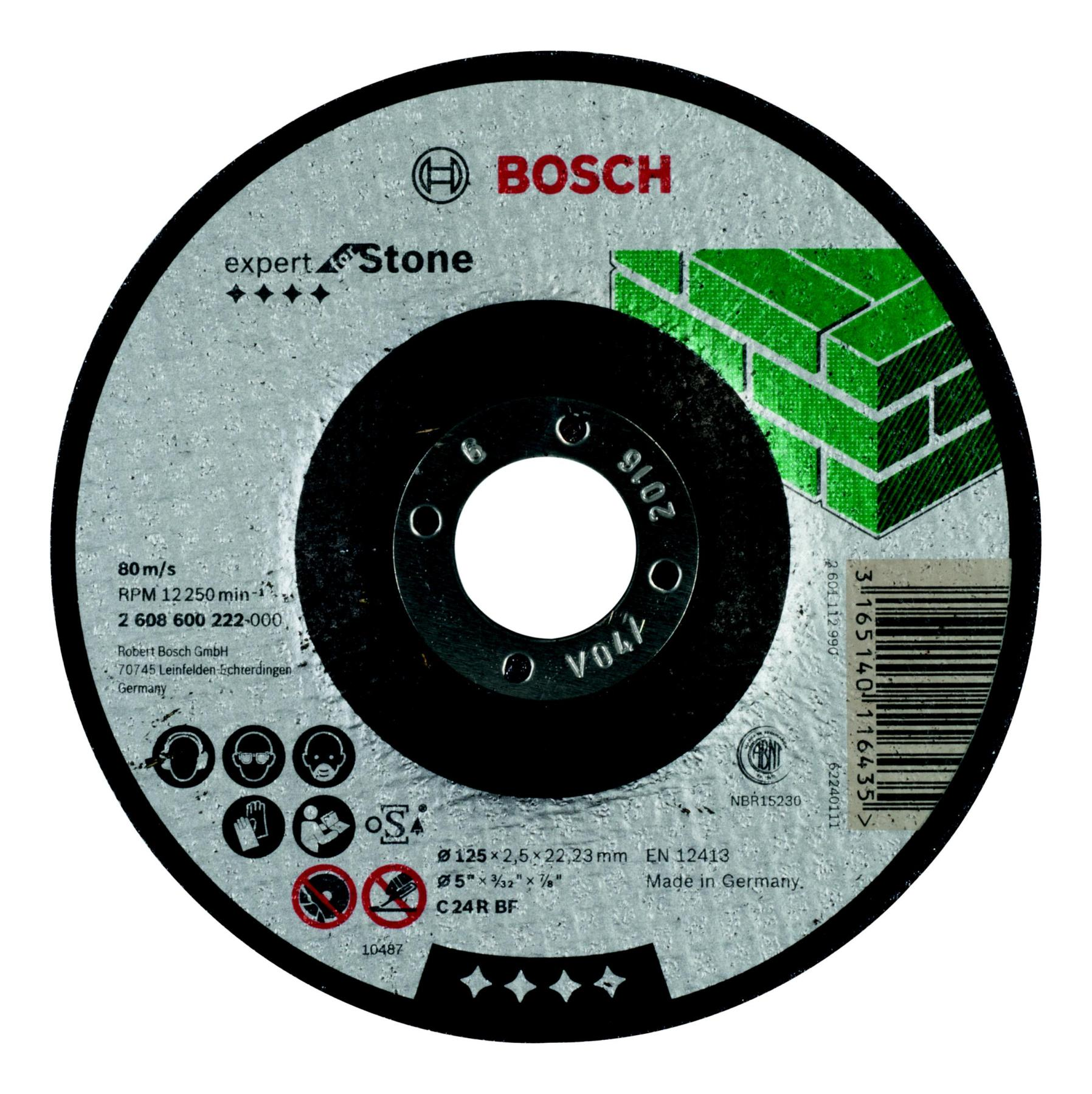 Circle Cutting BOSCH 125х2. 5х22 Expert For Stone (2.608.600.222)