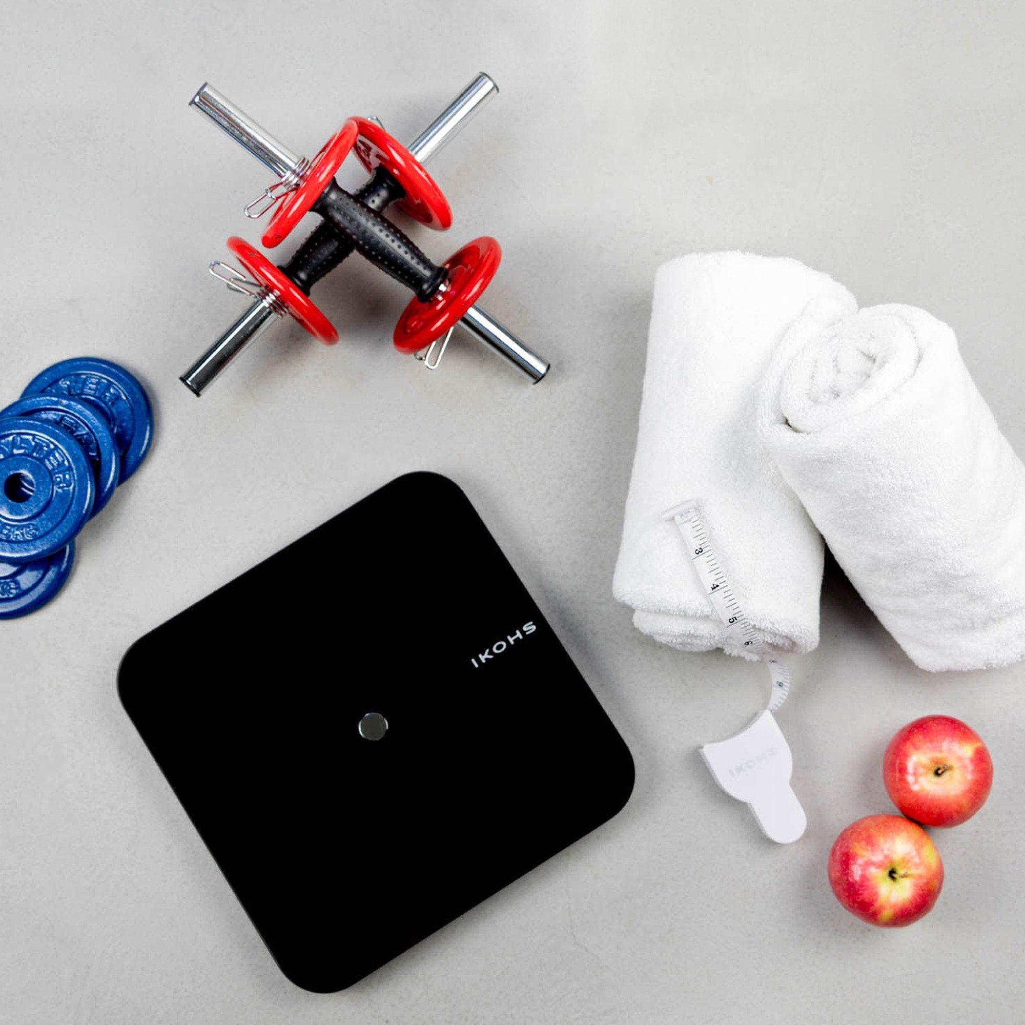 IKOHS SMART WELLNESS ванная комната весы светодиодный дисплей Bluetooth приложение подключение Совместимо с Android и IOS легкий дизайн - 4