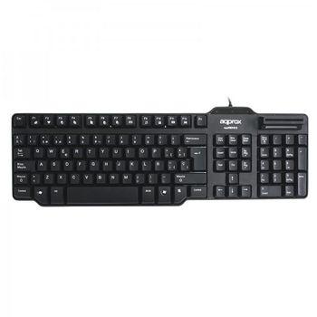 Keyboard with Reader approx! APPKBDNIV2 Card Reader Black