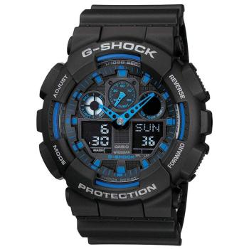 Casio G-Shock Analog-Digital Blue Dial Mens Watch Men Sport- GA-100