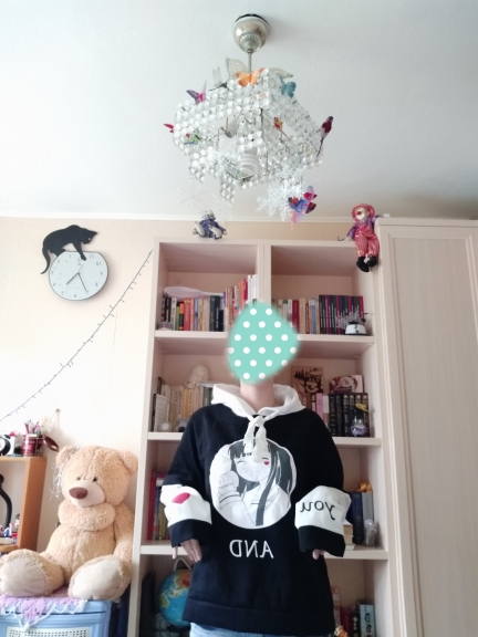 Harajuku Kawaii Women Hoodie Autumn Lolita Anime Letter Graphic Sweatshirts Pullover Korean Cute Mori Girls Outerwear Clothes photo review