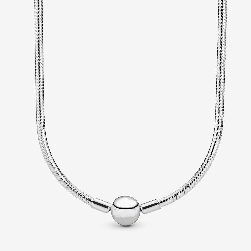 100% 925 Sterling argent serpent chaîne collier cadeau pour les femmes en fête/anniversaire/anniversaire bijoux à bricoler soi-même livraison gratuite
