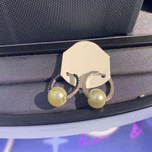 Kakany Boucles D'oreilles De Mode Argent Bleu Mini Boucles D'oreilles avec Perle Zircone Cubique Dames De Luxe Bijoux Cadeau