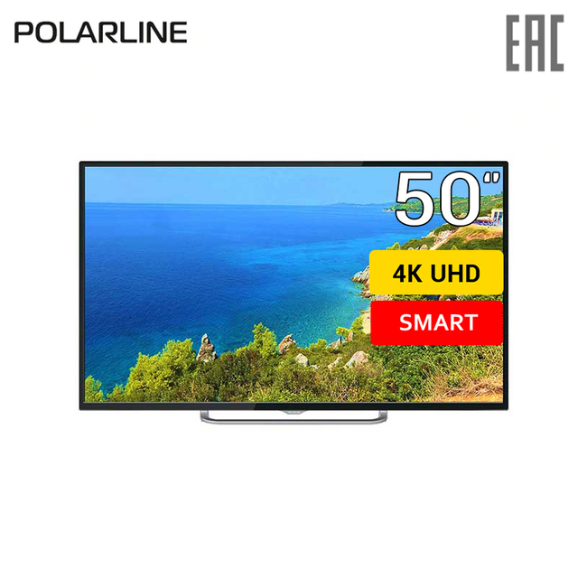"""Телевизор 50"""" Polarline 50PU11TC-SM 4K SmartTV"""