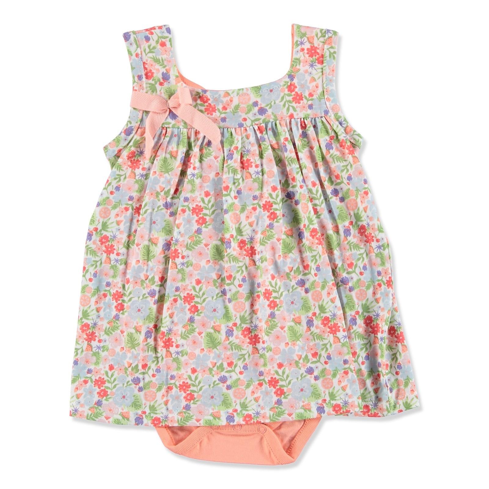 Ebebek Newborn Fashion Club Tropical Summer Baby Girl Dress Bodysuit