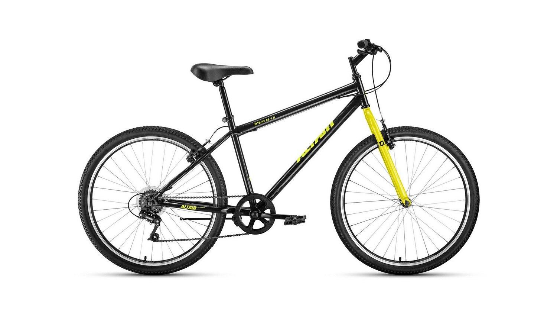 Горный велосипед ALTAIR MTB HT 1.0 26.0 (2020) , цвет черный/желтый