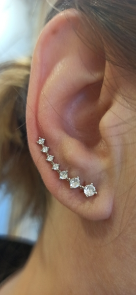 REETI New High Quality Super Shiny Zircon 925 Sterling Silver Earring for Women Jewelry photo review