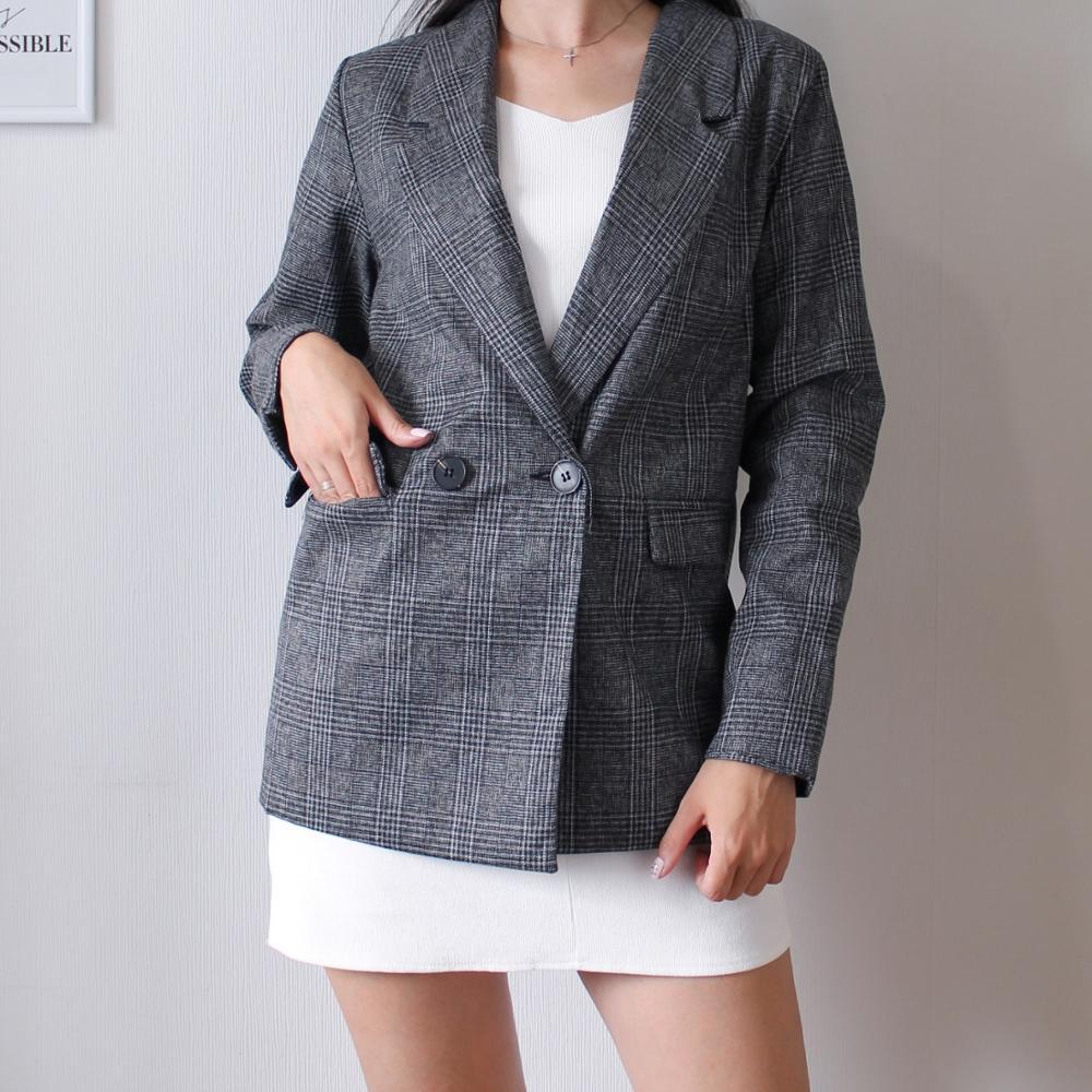 CBAFU autumn spring jacket women suit coats plaid outwear casual turn down collar office wear work runway jackets blazer N785 reviews №2 88694