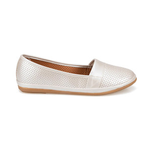 FLO Beige Women Shoes Woman Soft Boat shoes for Women Flats shoes Ladies Loafers Ballerina Polaris 91.157201MZ