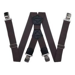 Bretelles pour pantalon grande taille (4 cm, 4 clips, marron) 54160