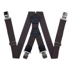 Hosenträger für große größe hosen (4 cm, 4 clips, Braun) 54160