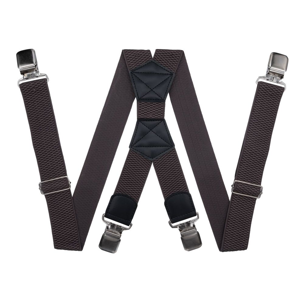 Suspenders For Large Size Trousers (4 Cm, 4 Clips, Brown) 54160