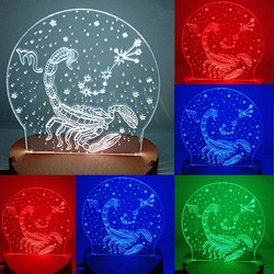 N-034 Scorpion-3D USB led Eco-friendly lamp night light, hand, table night light, home decor,