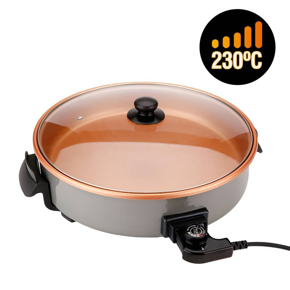Pizza Pan Skillet Electric Multifunction 40 Cm. Diameter And 7 Cm. Depth 1500 W