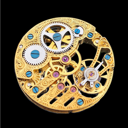 Gold Genuine Seagull TY3620-2B St3620k Movement Skeleton Hollow Manual Winding ST36 Watch ETA 6498 Replacement Part