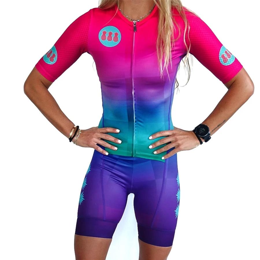 TRESPINAS 2020 outdoor bike suits skinsuit women triathlon roupa de pedalar feminina cycling body tights running jumpsuit|Cycling Sets| |  - title=