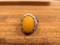 sterling silver 925 sterling tightening yellow amber ring handmade turkey ring mens ring womens ring quality workmanship jewelry