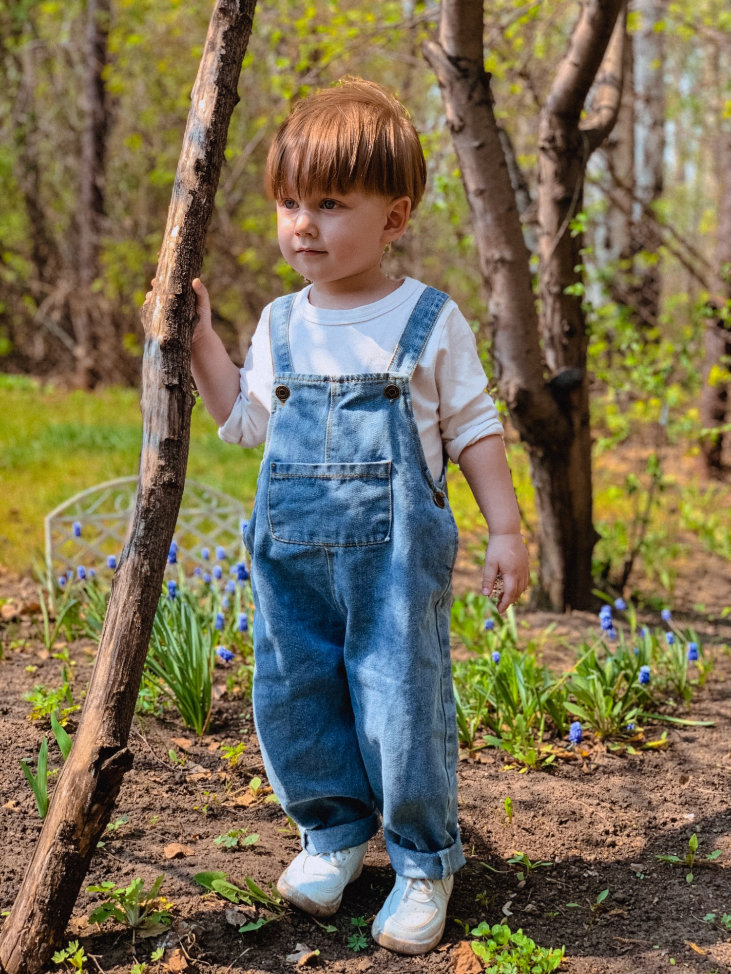 Baby Boy Solid Denim Overalls Child Jean Bib Pants Infant Jumpsuit Children's Clothing Kids Overalls Autumn Girls Outfits photo review