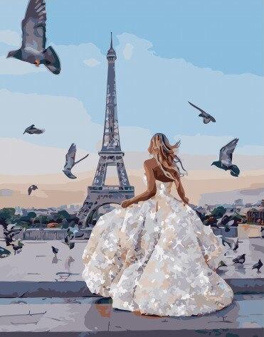 Painting By Numbers PK 51044 Paris Bride 40*50