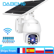 1080P WIFI Camera 8W Solar Outdoor IP Camera Rechargeable Battery Powered PTZ Speed Dome Camera Street Waterproof Surveillance