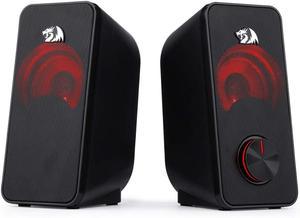 Image 2 - Redragon GS500 Stentor gry komputerowe głośnik, 2.0 kanałowy pulpit Stereo głośnik komputerowy z czerwone podświetlenie i jakości bas