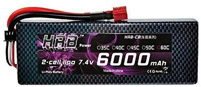 HRB 2s 7,4 v 6000mah 60c RC Lipo Batterie Harte Fall Mit Dean T Stecker Für RC Modell boot Lkw Buggy RC Auto Lkw RC Hobby
