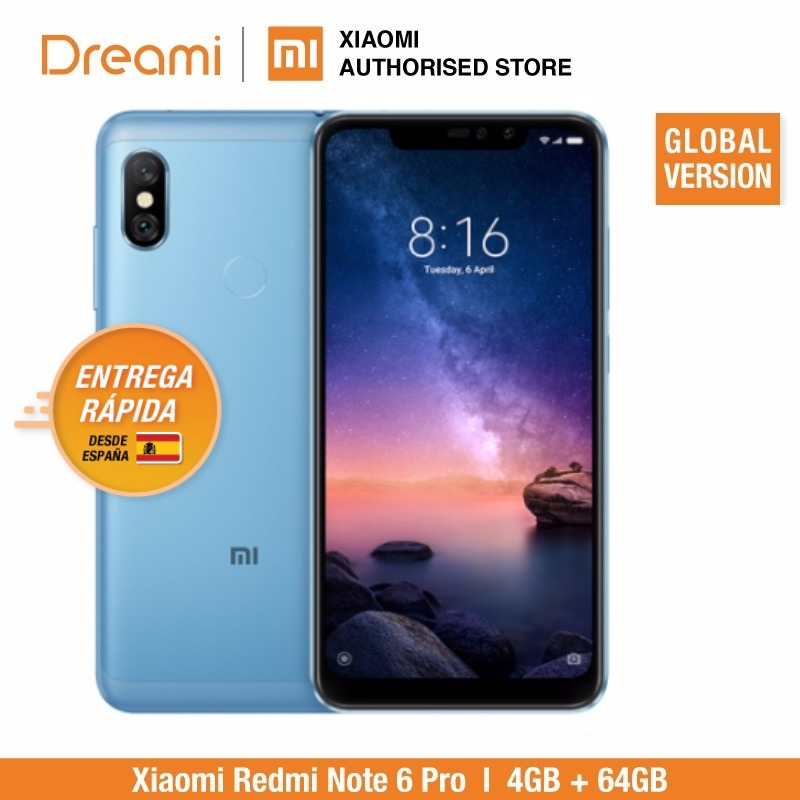 Global Version Xiaomi Redmi Note 6 Pro 64GB ROM 4GB RAM (Brand New And Sealed) Note6 Pro