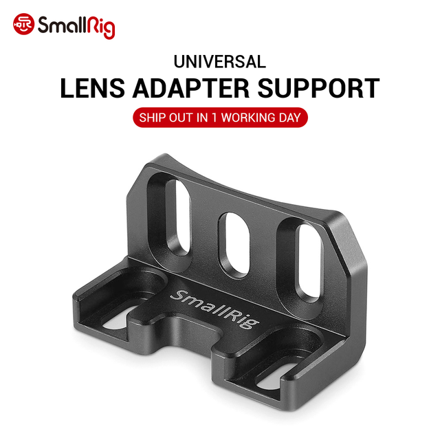 Smallrig lente adaptador suporte sob a gaiola da câmera e conexão a metabones tripé pé 1764