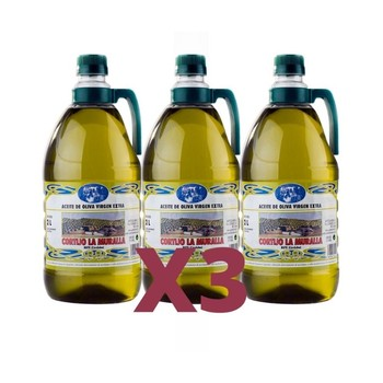 Extra virgin olive oil. AOVE superior quality, 2L 3 Pack raffas. Arbequina variety, early collection