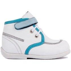 Парус-Лейкерс белая кожаная детская обувь