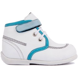 Zapatos de bebé de cuero blanco Sail-Lakers