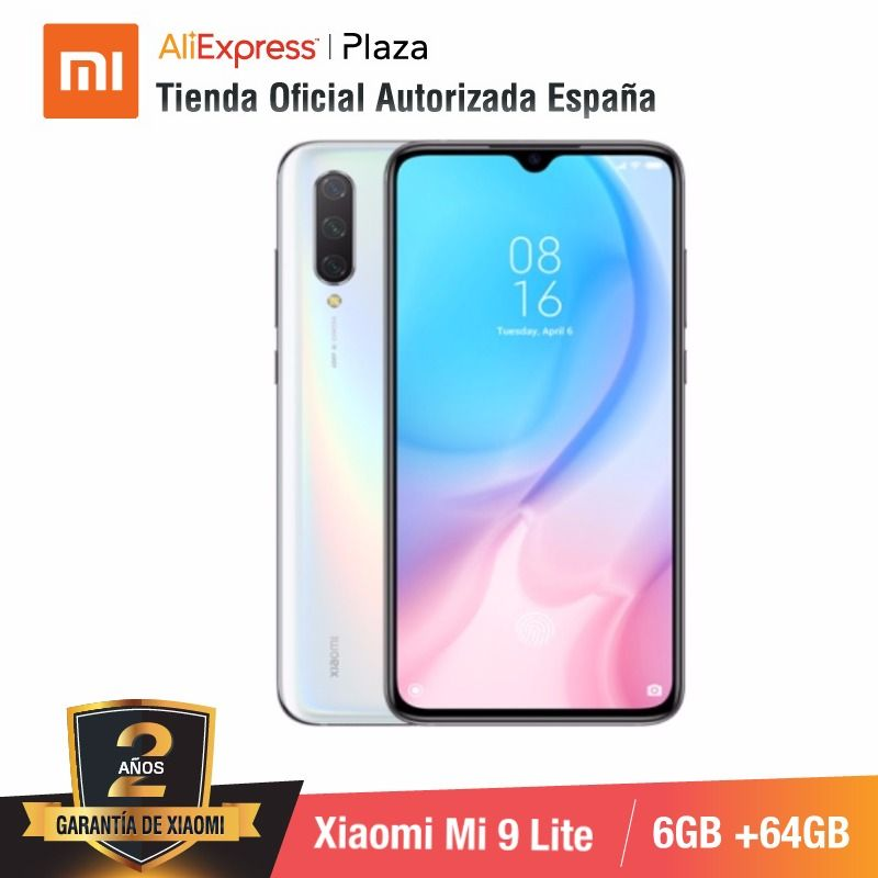 Global Version For Spain] Xiaomi Mi 9 Lite (Memoria Interna De 64GB, RAM De 6GB, Selfies De 32 MP Y Triple Cámara De 48 MP)