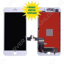 Pantalla Completa para iPhone 7 Plus Blanca Tactil Digitalizador + LCD + Marco Blanco + Cristal Templado Calidad AAA+ Envio 24h