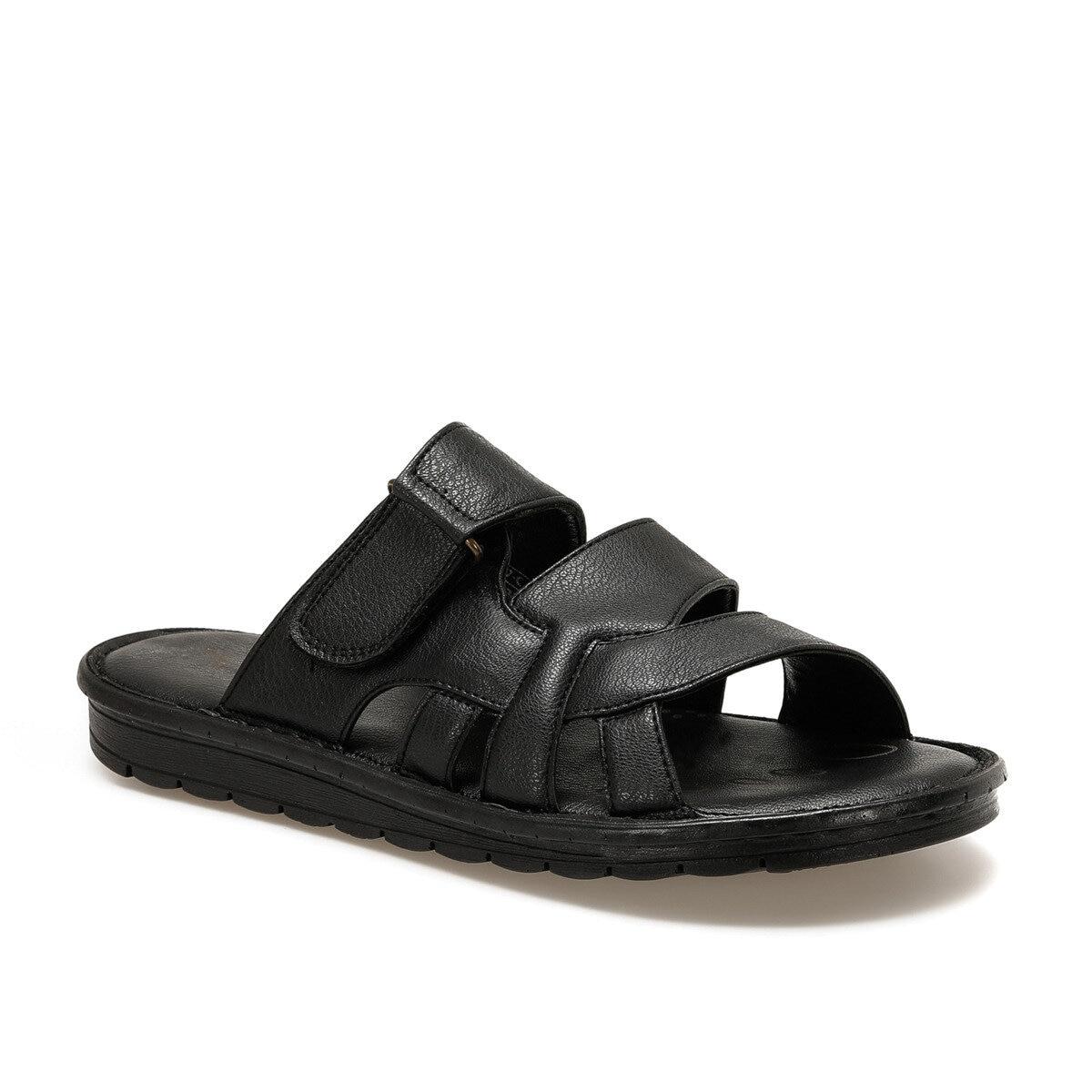 FLO 107 C Black Male Slippers Flexall