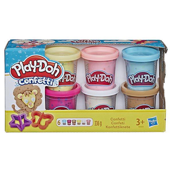 """Juego de juego de plastilina-Doh """"confeti"""", 6 latas"""