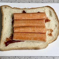 蟹柳鸡蛋芝士三明治的做法图解4